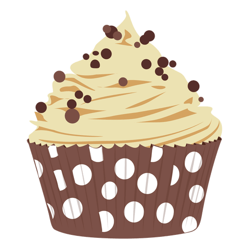 Chocolate chip cupcake illustration Transparent PNG