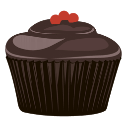 Chocolate cupcake illustration