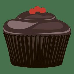 Ilustración de cupcake de chocolate