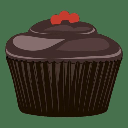 Ilustração de bolinho de chocolate Transparent PNG