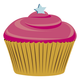 Chocolate cupcake illustration star