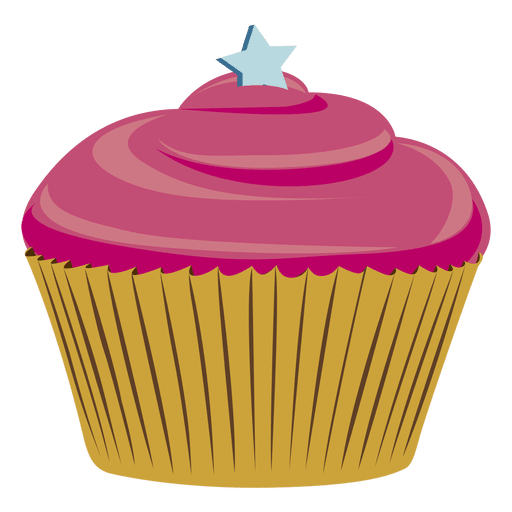 Chocolate cupcake illustration star Transparent PNG
