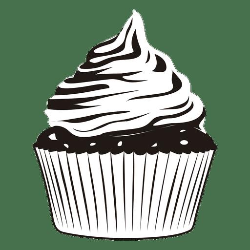 Classic  cupcake illustration Transparent PNG
