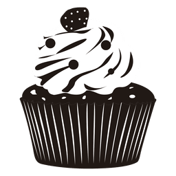 Cupcake illustration garnish