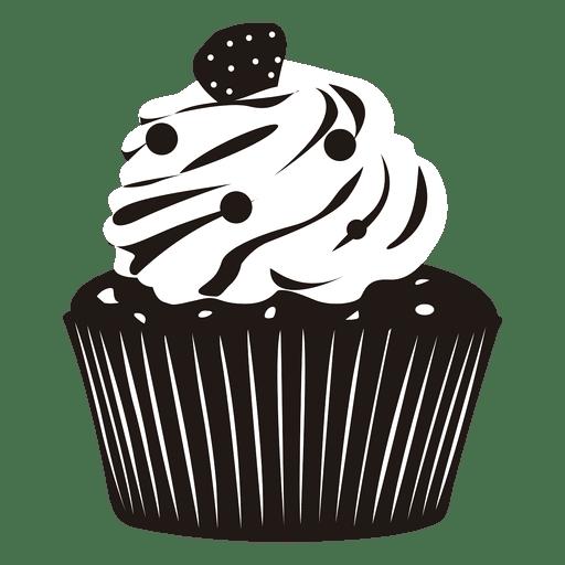 Enfeite de ilustração de cupcake Transparent PNG