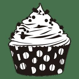 Illustration des kleinen Kuchens mit Punkten