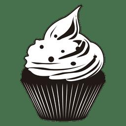 Cute cupcake ilustración