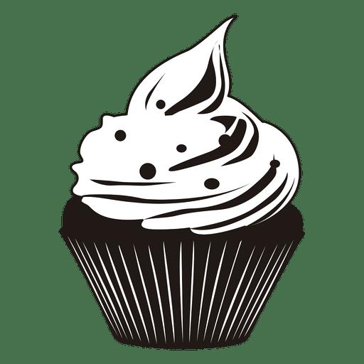 Cute  cupcake illustration Transparent PNG