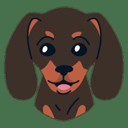 Ilustración de perro salchicha