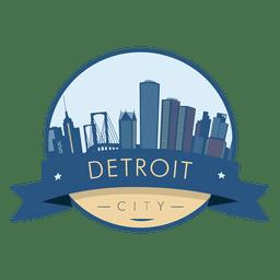 Insignia del horizonte de Detroit