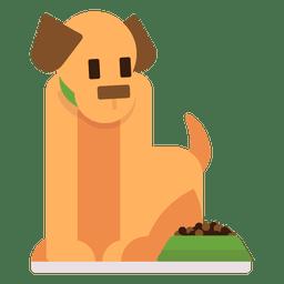 Perro con comida ilustración