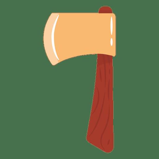 Ilustración de hacha plana