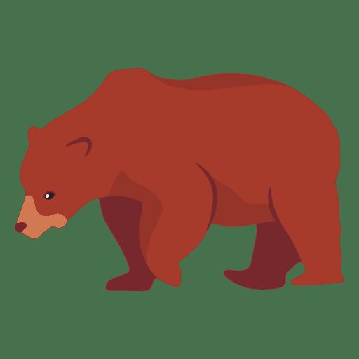 Ilustración de oso plano