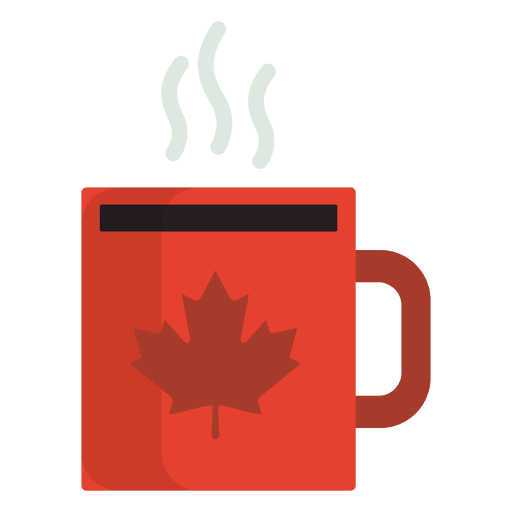 Flat canadian mug Transparent PNG