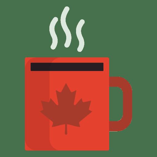 Flat canadian mug