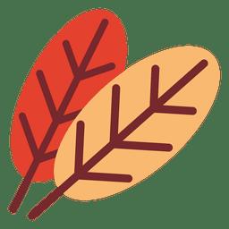 Icono de hojas planas