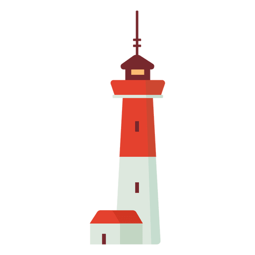 Flat lighthouse illustration