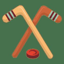 Ilustración de canada de hockey