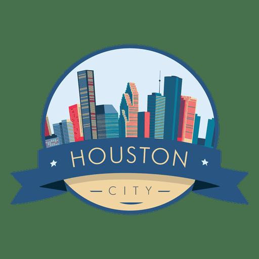 Logotipo de Houston Skyline Transparent PNG
