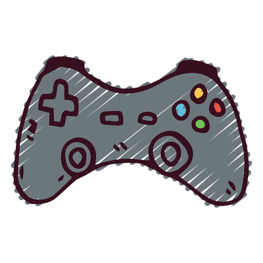 Joystick doodle icon Transparent PNG