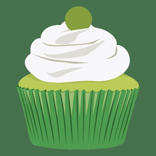 Key lime cupcake illustration Transparent PNG