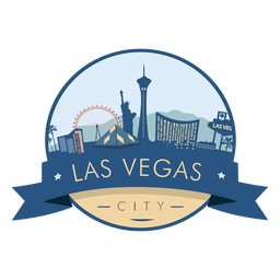 Las vegas skyline badge