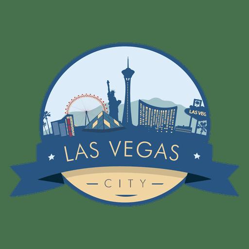 Crachá do skyline de Las Vegas Transparent PNG