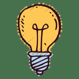 Icono del doodle de la bombilla