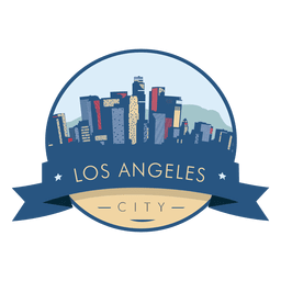 Los angeles skyline badge