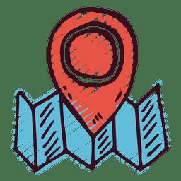 Icono de puntero marcador de mapa
