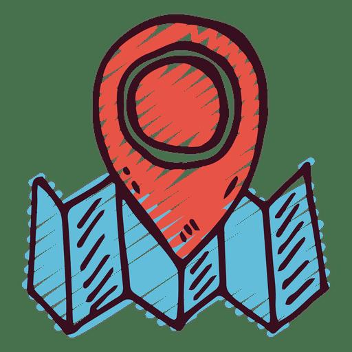 Icono de puntero marcador de mapa Transparent PNG