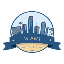 Miami skyline badge