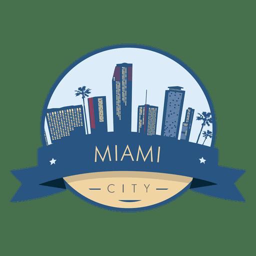 Miami City Badge Transparent PNG