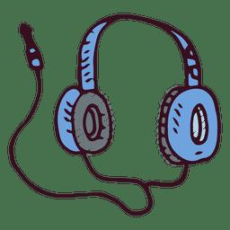 Auriculares de la música del doodle