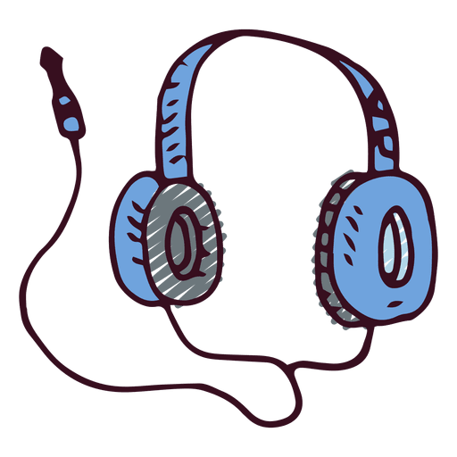 Music doodle earphones Transparent PNG