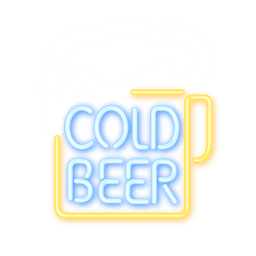 Signo de cerveza de neón