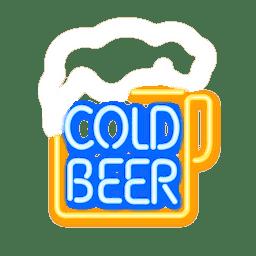 Sinal de cerveja de néon