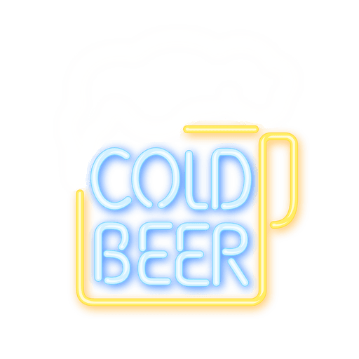 Neon Bier Zeichen Transparent PNG