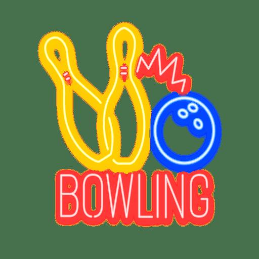 Neon Bowling Zeichen Transparent PNG