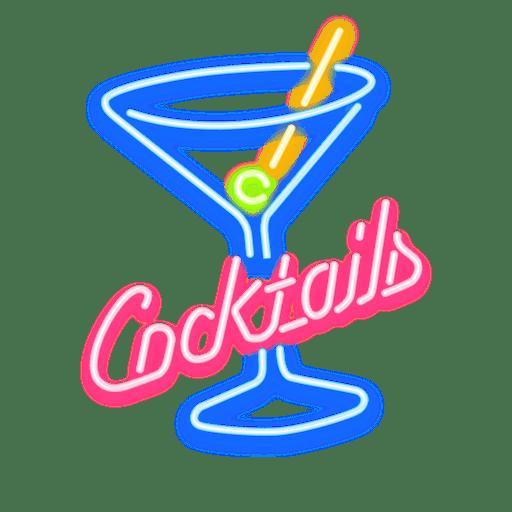 Neon Cocktails Zeichen