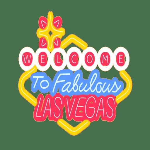 Neon Las Vegas Zeichen Transparent PNG