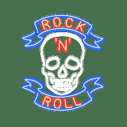 Letrero de neon rock