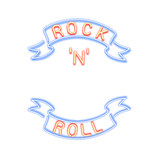 Neon rock sign Transparent PNG