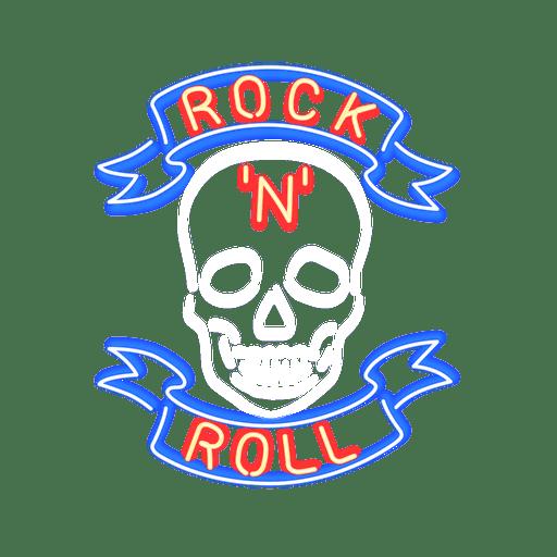 Signo de roca de neón