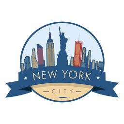 New York Skyline Badge Vector