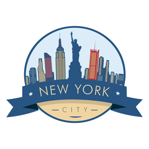 New York Skyline Badge Vector