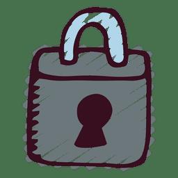 Padlock doodle icon