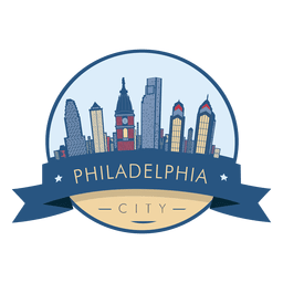 Philadelphia skyline badge