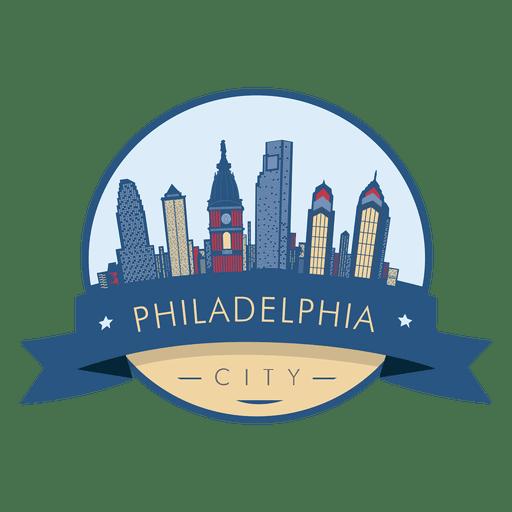 Philadelphia skyline badge Transparent PNG