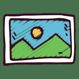 Icono de doodle de imagen